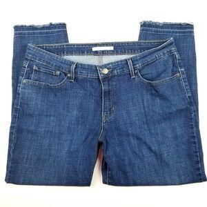 Levi 711 Skinny Raw Hem Denim Crop Jeans 18W